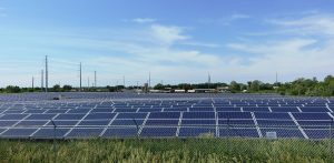 A large solar installation at the University of Illinois at Urbana-Champaign.