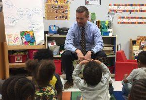 U.S. Congressman Rodney Davis interacts with children at Urbana Head Start