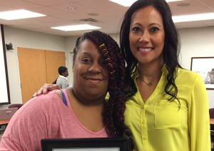2018 Families of Distinction awardee Brittany Bailey and her No Limits caseworker Maria Harrison
