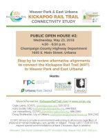 Weaver Park & East Urbana KRT Open House Flyer