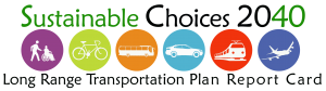 The Long Range Transportation Plan Report Card logo