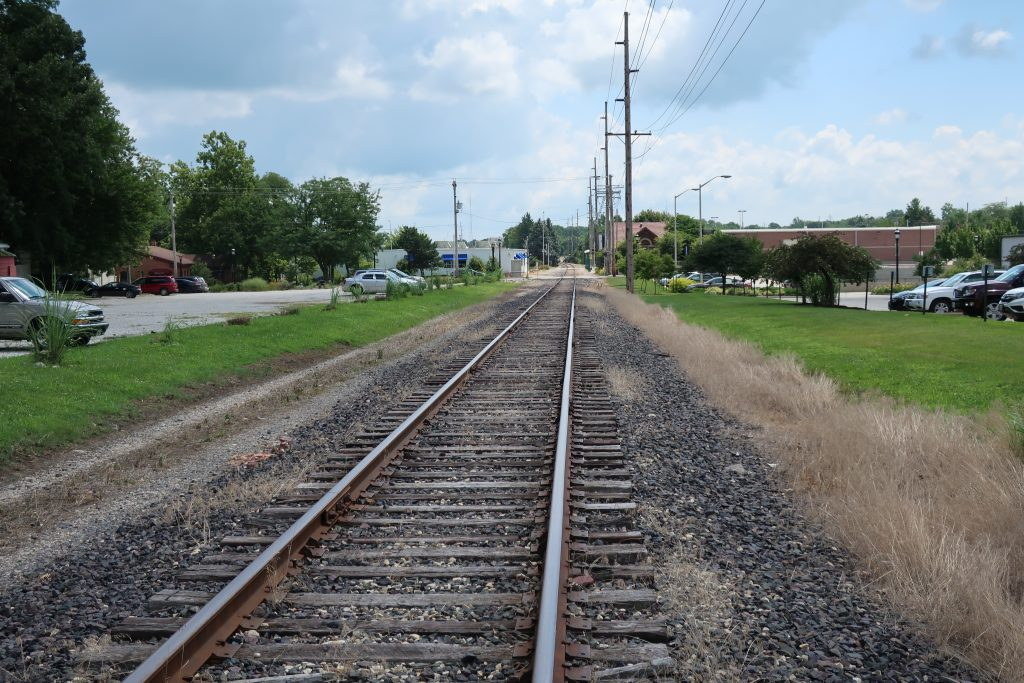 A view of the proposed extension of the Kickapoo Rail Trail in downtown Urbana