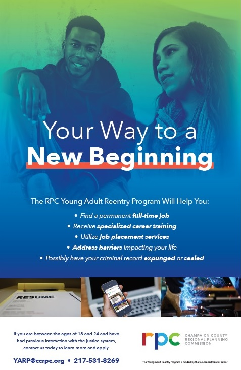 Poster for the Young Adult Reentry Program