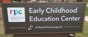 A sign at one of the RPC's Early Childhood Education Centers
