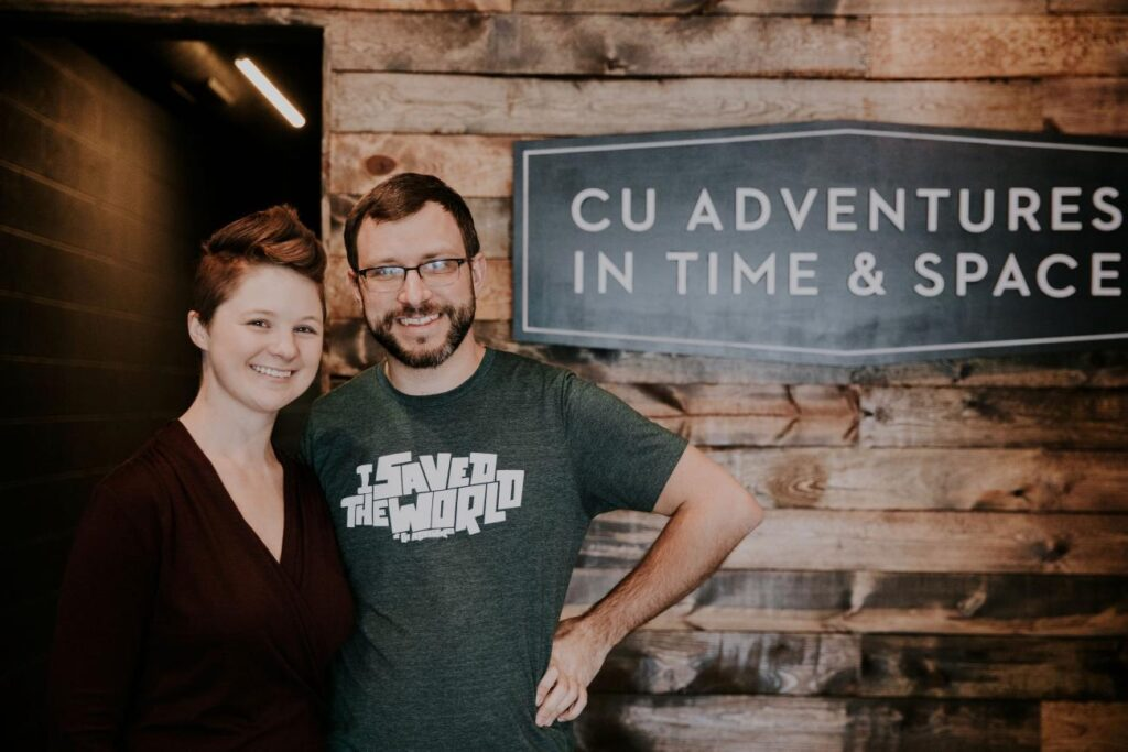 Anne and Chris Lukeman, owners of CU Adventures in Time & Space