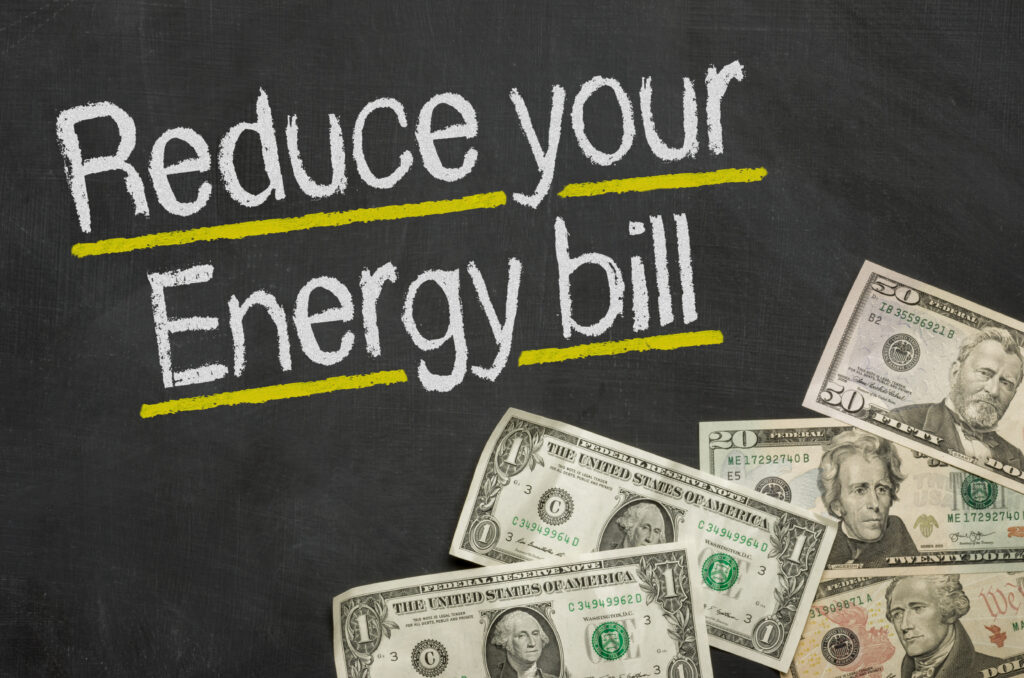 Reduce your energy bill graphic