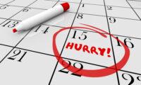 Hurry Deadline Day Rush Date Circled Calendar Illustration