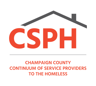 The logo for the Champaign County Continuum of Service Providers to the Homeless