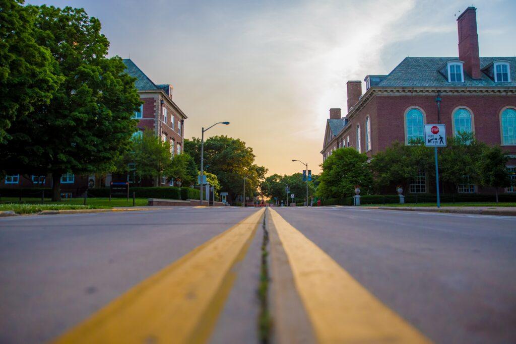 A street in Champaign-Urbana