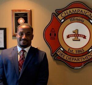 Joseph Wilson of the Champaign Fire Department