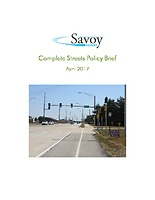 Savoy Complete Streets Policy