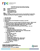 September 6, 2017 CUUATS Technical Committee Meeting Agenda
