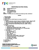 September 13, 2017 CUUATS Policy Committee Meeting Agenda