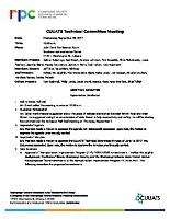 September 6, 2017 CUUATS Technical Committee Meeting Approved  Minutes