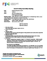 September 13, 2017 CUUATS Policy Committee Meeting Approved Minutes