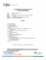 November 16, 2017 Chief Elected Officials Board meeting packet