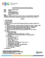 December 6, 2017 CUUATS Technical Committee Meeting Agenda