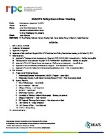 December 13, 2017 CUUATS Policy Committee Meeting Agenda