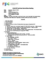February 7, 2018 CUUATS Technical Committee Meeting Agenda