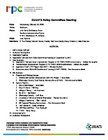 February 14, 2018 CUUATS Policy Committee Meeting Agenda