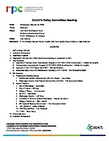 February 14, 2018 CUUATS Policy Committee Meeting Packet
