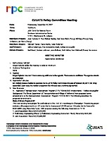 December 13, 2017 CUUATS Policy Committee Meeting Approved Minutes