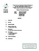 June 26, 2008 HSTP Agenda