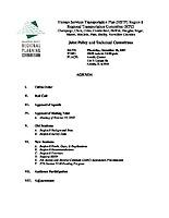 December 20, 2007 HSTP Agenda