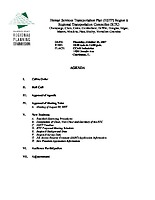 October 25, 2007 HSTP Agenda