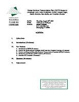 August 30, 2007 HSTP Agenda