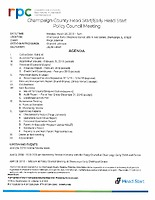 March 26, 2018 Policy Council Packet