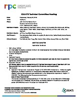 February 7, 2018 CUUATS Technical Committee Approved Minutes