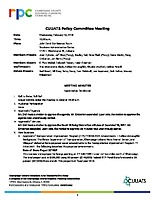 February 14, 2018 CUUATS Policy Committee Meeting Approved Minutes