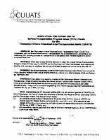 CUUATS Resolution for Future Use of STPU Funds, 1999