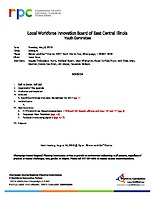 May 8, 2018 WIOA Youth Committee Meeting Agenda