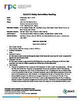 April 11, 2018 CUUATS Policy Committee Meeting Approved Minutes