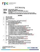 RPC Meeting Agenda
