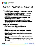 Coordinator – Youth Workforce Development