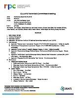 September 5, 2018 Technical Committee Agenda