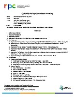 September 12, 2018 CUUATS Policy Committee Agenda