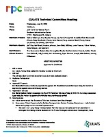 June 13, 2018 CUUATS Technical Committee Approved Minutes