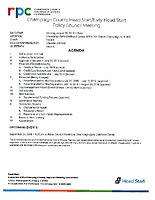 August 27, 2018 Policy Council Meeting