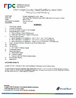 September 24, 2018 Policy Council Meeting