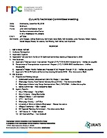 December 5, 2018 CUUATS Technical Committee Agenda
