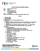 December 12, 2018 Policy Committee Meeting Agenda