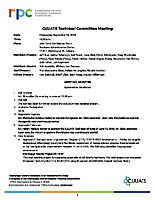 September 5, 2018 Technical Committee Approved Meeting Minutes