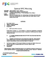 Special RPC Meeting Agenda 121418
