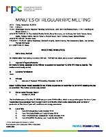 1) RPC Meeting Minutes 11-16-2018