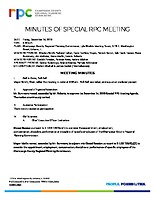 2) Special RPC Meeting Minutes -121418