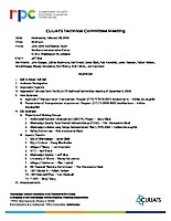 February 6, 2019 CUUATS Technical Committee Agenda